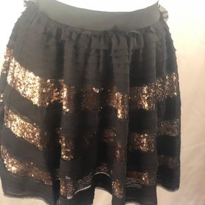 FREE PEOPLE small tiered sequin skirt